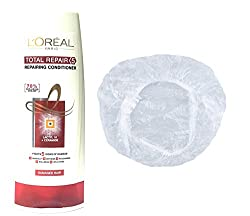 Loreal Total Repair <5 Advanced Repairing Set of 2 (Conditioner+Shower Cap) 175 ml with Ayur Product in Combo