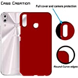 "Case Creation ZenFone 5 (2018) Back Cover,Hard Back Case Cover For Asus Zenfone 5 ZE620KL/ZenFone 5 (2018)/Asus Zenfone 5 6.2"" Inch 2018- Maroon Wine RED"