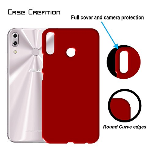 """Case Creation ZenFone 5 (2018) Back Cover,Hard Back Case Cover For Asus Zenfone 5 ZE620KL/ZenFone 5 (2018)/Asus Zenfone 5 6.2"""" Inch 2018- Maroon Wine RED"""