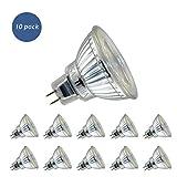 Sanlumia Bombillas LED GU5.3 MR16, 5W = 50W Halógena, 400Lm, Blanco Frío (6400K), AC/DC 12V, 38 ° ángulo de haz,Iluminación de Techo para Cocina, Oficina, o Baño, Paquete de 10