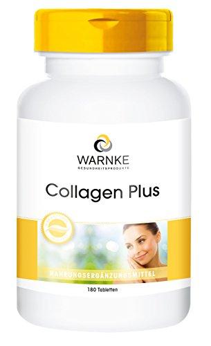 Warnke Gesundheitsprodukte Collagen Plus - 180 Tabletten - mit Hyaluronsäure und Vitamin C