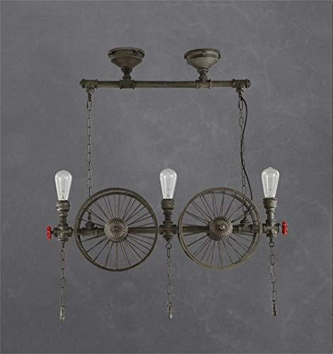 WHKHY Nordic Post Moderne Vintage Lampenschirme Stil Durable Wind Professionelle Persönlichkeit 2/3/4 Lichter Kronleuchter Lampe,3 Lampe - Drei-licht-post-lampe