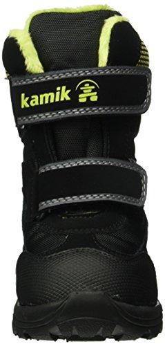 Kamik Slate, Bottes mi-hauteur avec doublure chaude mixte enfant Multicolore (Noir/Vert)