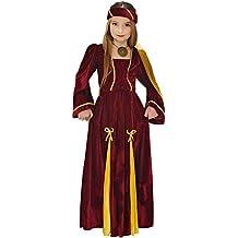 Widmann - Disfraz de Princesa medieval para niñas de 5 a 7 años, 128 cm (W1253-S)