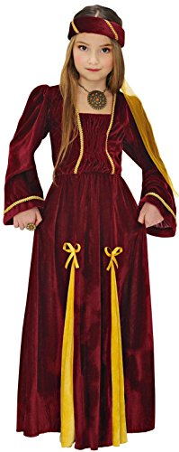 Widmann 12536 - Costume da Principessa Medievale, in Taglia 5/7 Anni