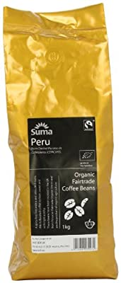 Suma Fairtrade Organic Peru Cepicafe Coffee Beans 1 kg by Suma