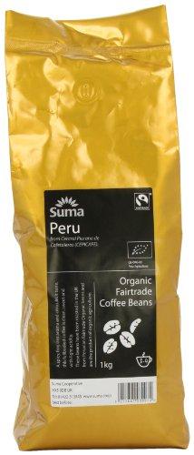 Suma Fairtrade Organic Peru Cepicafe Coffee Beans 1 kg 41edF8GcAPL