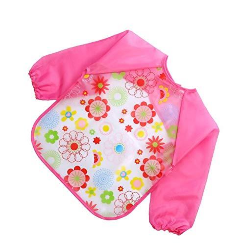 Busirde Lovely Baby-Lätzchen Baby Langarmshirt Wasserdichtes Baby Feeding Smock Kinder Kunststoff-Overall Lätzchen Kleinkind-Schal 8#