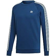 adidas 3-Stripes Crew Sweatshirt, Hombre, Legend Marine, M