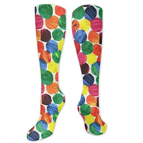 grigen Caterpillar Abstract Dots Socks Damen Winter Cotton Long Tube Socks Kniehohe Graduierte Kompressionssocken ()