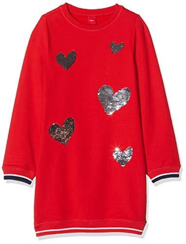 s.Oliver Mädchen 53.909.82.2976 Kleid, Rot (Red 3123), 110 (Herstellergröße: 110/REG)