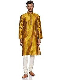 Manyavar Men's Blended Kurta & Churidar Set (S952312)