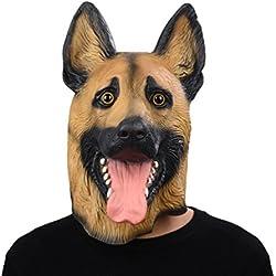 Antifaz de perro Pastor Aleman.