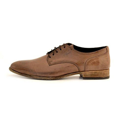 scarpe stringate uomo Soldini pelle marrone cuoio Marrone