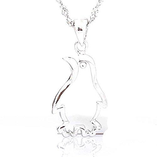 (findout rhodiniertem 925er Sterling Silber Mode einfachen Pinguine. Anhänger Halskette (F426))