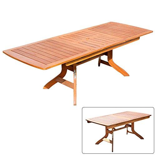 Tavolo legno Balau allungabile 170-235x95x74cm Golden Teak arredo giardino 07467