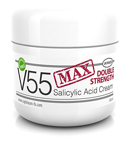 V55 MAX Double Strength Salicylic Acid Cream for Spots Blackheads Blemishes Problem Skin Suitable and Safe for those Prone to Acne - Paraben and Cruelty FREE - 50 grams