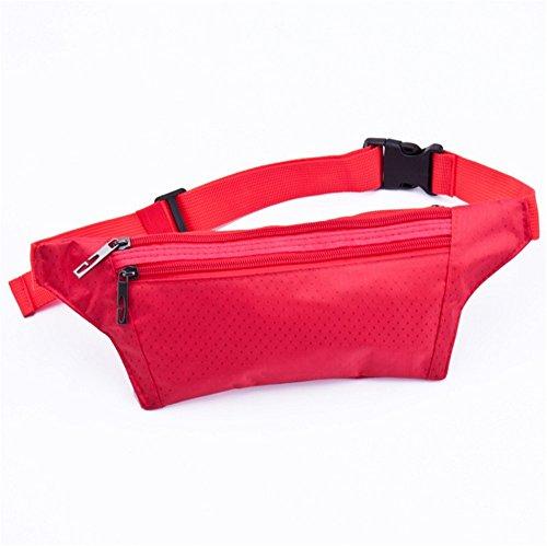 ZYPMM Wasserdichte Outdoor-Sport-Männer und Frauen-Läufer Taschen Taschen Telefonpaket Multifunktions-Fuß schließen kleine Taschen Rot