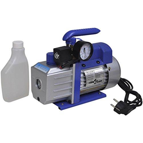 VidaXL Bomba de vacío de una Etapa con manómetro Aire Acondicionado, 71 litros/min