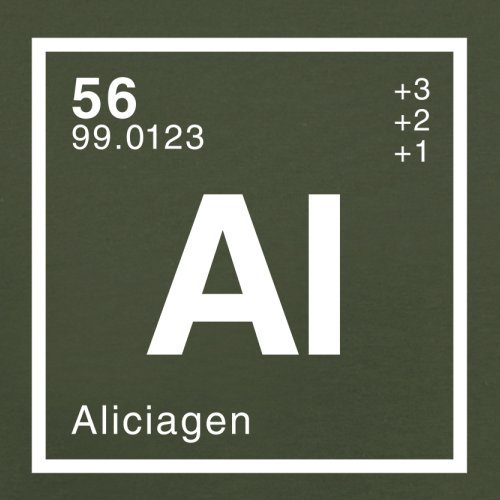 Alicia Periodensystem - Herren T-Shirt - 13 Farben Olivgrün