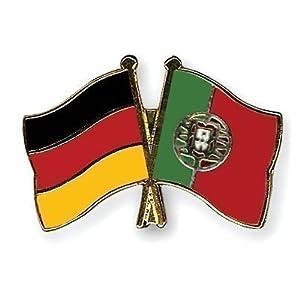 Germany & Portugal Freundschaft Flaggen vergoldet Emaille Pin-Anstecker