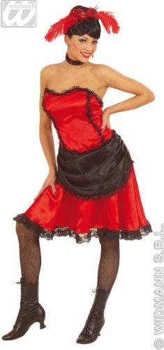 Widmann-WDM56751 Erwachsenenkostüm für Damen, Rot Schwarz, WDM56751
