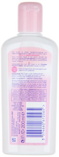 BeBe Young Care quick und clean Reinigungslotion und Gesichtswasser, 3er Pack (3 x 200ml)