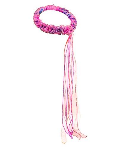 83 Wrap, Pink Fairy Rainbow, Regenbogenfee rosa, Haarschmuck Regenbogen Elf Fee mit glitzernden Schleifen ()