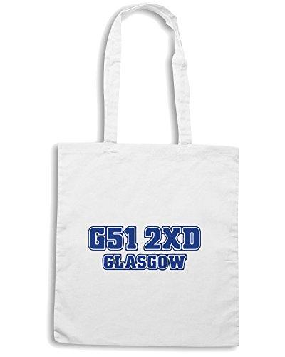 T-Shirtshock - Borsa Shopping WC1062 rangers-postcode-tshirt design Bianco