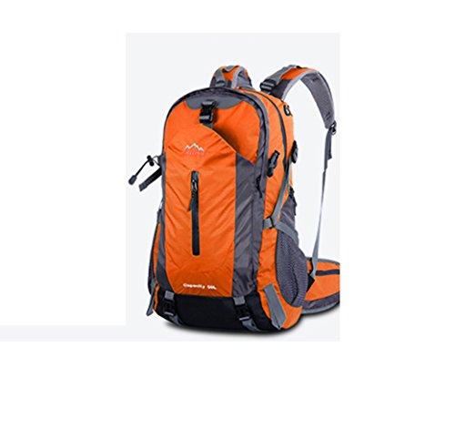 YAAGLE Wasserdicht Bergsteigen Taschen 50 L outdoor Rucksack Gepäck vielfältige Farben Trekkingrucksack Reisetasche-orange