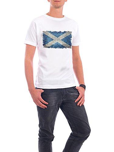 """Design T-Shirt Männer Continental Cotton """"Flag of Scotland"""" - stylisches Shirt Reise von Bruce Stanfield Weiß"""
