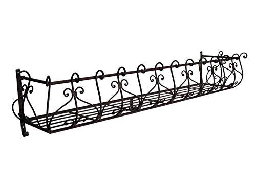 HFG Blumen-Balkon aus Metall B 118 cm Wandkorb Balkonkasten Blumenkasten