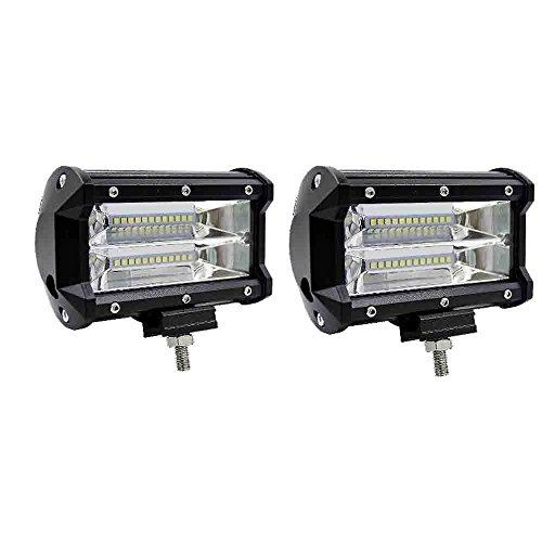 Preisvergleich Produktbild Karl Aiken 72W LED Arbeitsleuchte Offroad Flutlicht Auto für LKW ATV Traktor 12V 24V LED Nebelscheinwerfer Angeln Scheinwerfer 2Stück