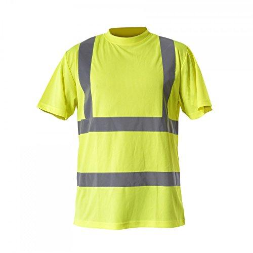 LAHTI PRO L4020802 T-Shirts Warnschutzkleidung Arbeitsshirt, Größe M/50, Gelb/Orange