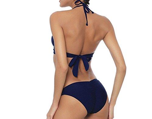 KUWOMINI.Fashion Normallack Weiblicher Bikini Darkblue