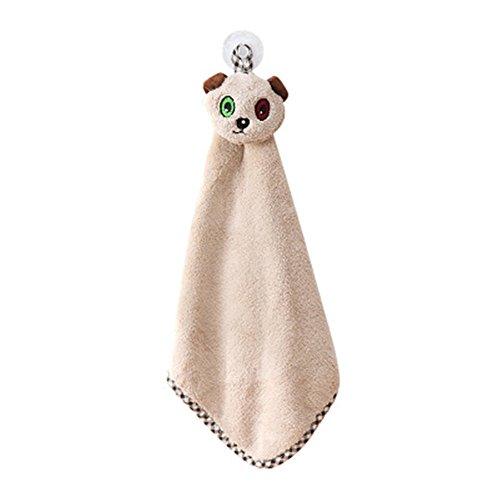 baffect Hanging asciugamano-Mini Cartoon Animal fazzoletto da cucina da appendere in pile corallo accessori per il bagno
