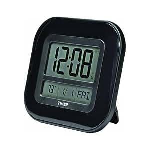 Chaney Instruments 75322T Acu Timex 9 atomic Digital Horloge murale auto-ajustable avec un calendrier Horloge atomique fiable et précis de la température