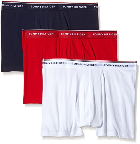 Tommy Hilfiger - Big And Tall Premium Essentials Trunk, Pantaloncini Uomo Multicolore (Tango Red Pt/White/Peacoat Pt)