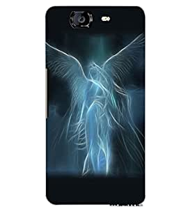MICROMAX A350 CANVAS KNIGHT ANGEL GIRL Back Cover by PRINTSWAG