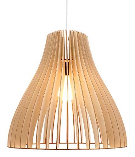 Wodewa lampara de techo madera nubes natural i lamparas - Lamparas colgantes modernas ...