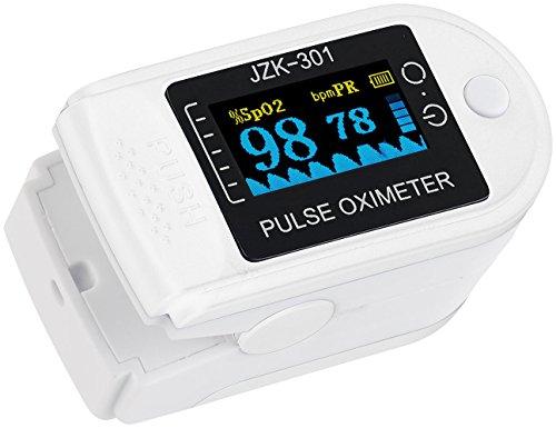 newgen medicals Oximeter: Medizinischer Finger-Pulsoximeter mit OLED-Farbdisplay, exakte Messung (Sauerstoffmessgerät)