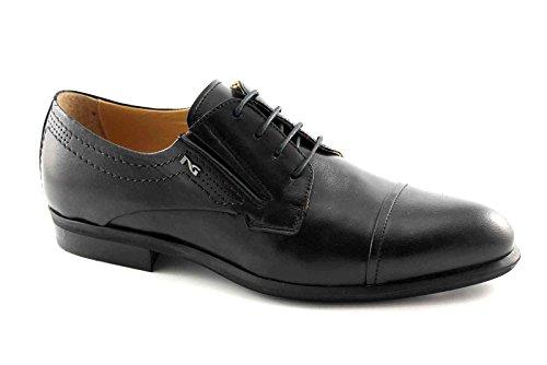 NERO GIARDINI 4201 nero scarpe uomo eleganti cerimonia derby puntale 40