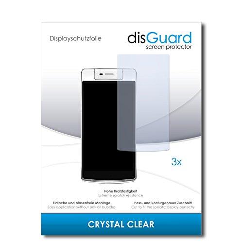 disGuard® Bildschirmschutzfolie [Crystal Clear] kompatibel mit Oppo N3 [3 Stück] Kristallklar, Transparent, Unsichtbar, Extrem Kratzfest, Anti-Fingerabdruck - Panzerglas Folie, Schutzfolie