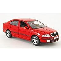 Skoda Octavia, colour rojo, modelo, modelo, Welly 1:24
