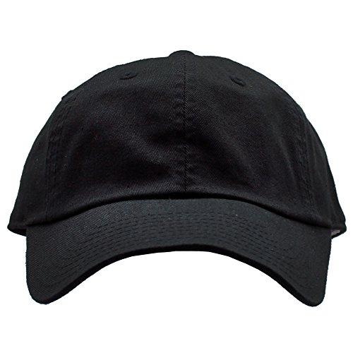 American Nadel Gewaschen Slouch Raglan Hat in Schwarz