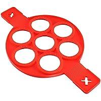 HOBFUUK   Stampo da Cucina in Silicone Antiaderente  per Uova  Pancake  Colore Rosso