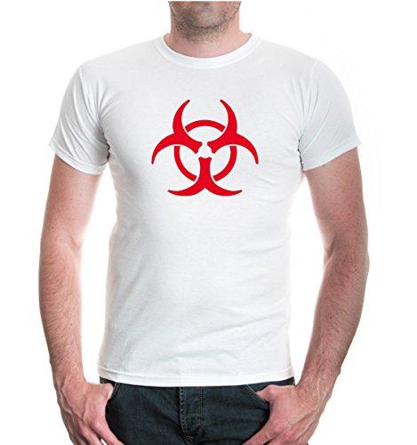 buXsbaum® T-Shirt Biohazard White-Red