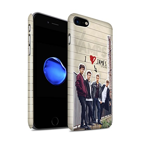 Offiziell The Vamps Hülle / Glanz Snap-On Case für Apple iPhone 7 / Connor Muster / The Vamps Geheimes Tagebuch Kollektion James