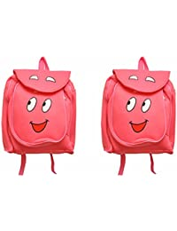 Pratham Enterprises Combo Of Pink Smile Bags- 35 CM (Pack Of 2 )