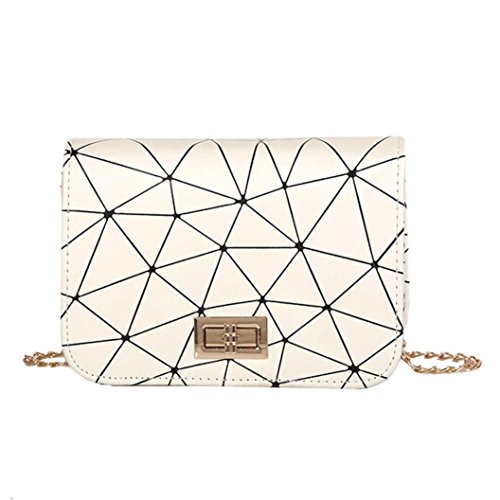 SANFASHION Damen mode Leder Crossbody Tasche Splice Schultertasche Messenger Bag
